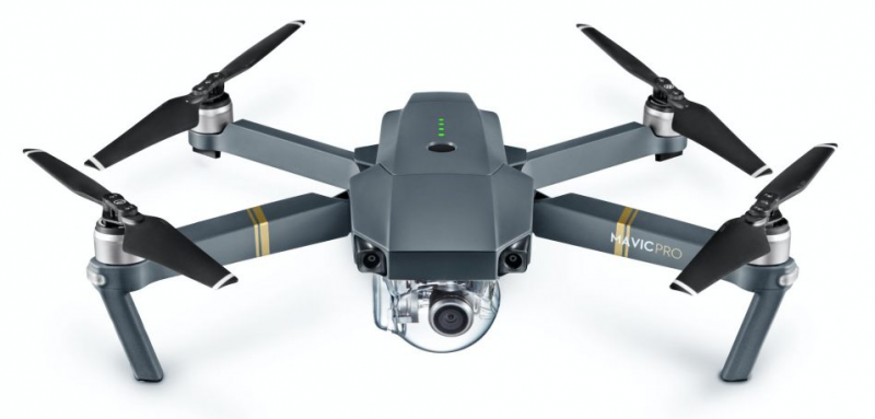 drone DJI Mavic Pro para el tendido de fibra óptica