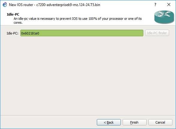 Finalización de la carga de la Imagen IOS