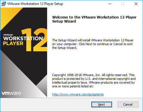 Inicio de Instalación VMware Worstation 12 Player