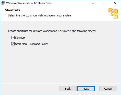 Creación de accesos directos para VMware
