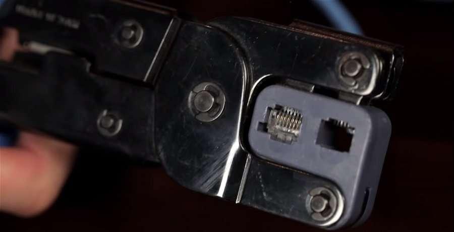 Con la ayuda de un pelador de cable, descubre 2.5 cm de revestimiento.